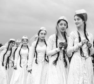 Women dressed in white