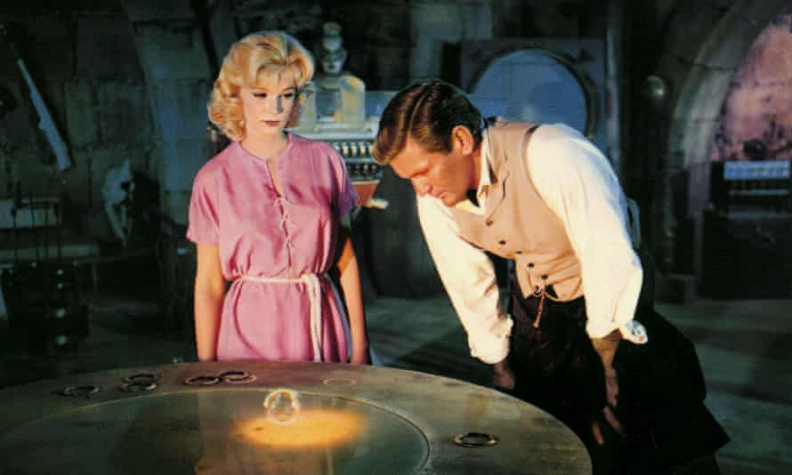 Yvette Mimieux and Rod Taylor in The Time Machine.