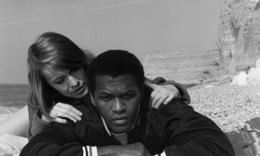 Nicole Berger and Harry Baird in The Story of a Three- Day Pass, 1968, a frank account of rank and race in the army that was the first feature film made by Melvin Van Peebles.