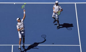 Bob Bryan won on his grand slam doubles return alongside his twin brother Mike on Wednesday.