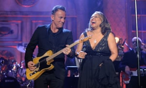 You can't start a fire without a spark: Bruce Springsteen performs onstage with inductee Darlene Love at the 26th annual ceremony