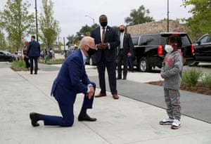 Joe Biden in Detroit, Michigan, 9 September