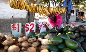 A market stall in Chitungwiza, Zimbabwe.