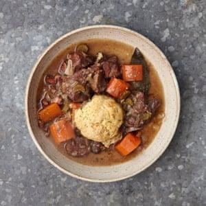 Gill Meller's beef stew and stilton dumplings