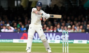Ben Stokes batting for England against Australia in second Test at Lord's.