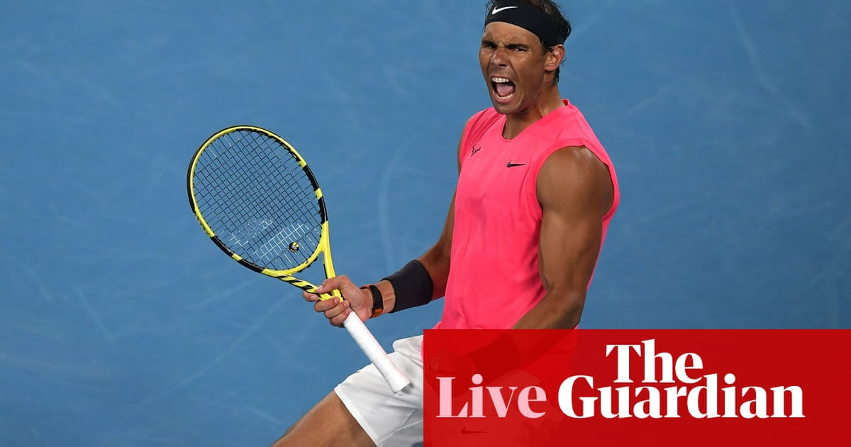 Australian Open: Rafael Nadal beats Nick Kyrgios in four sets – live!