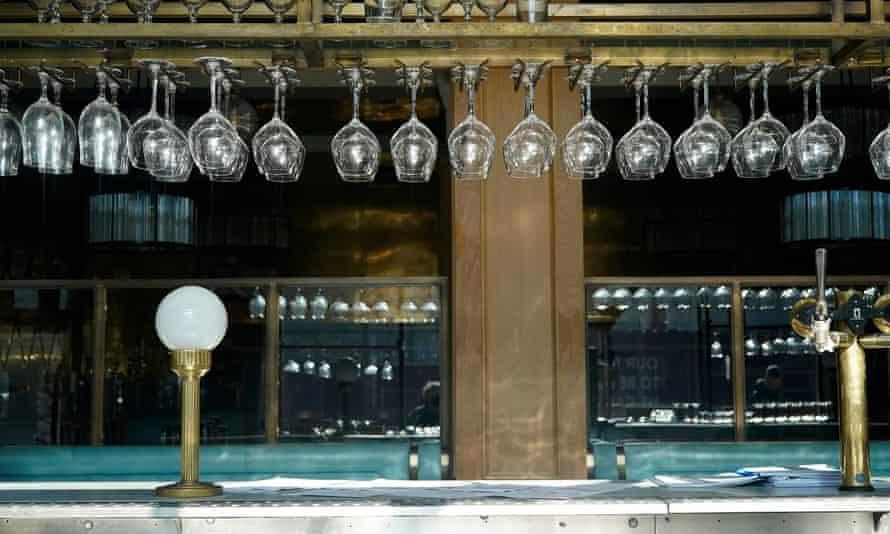 An empty Manchester pub last month