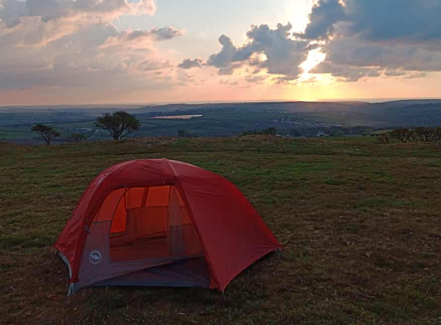 Camping with a view at Prussia Cove, Cornwall