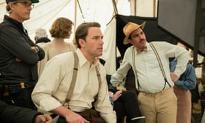 Dry run: Affleck on the set of his new Prohibition-era film Live by Night.