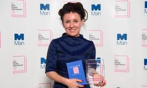 Polish author Olga Tokarczuk after winning the Man Booker International prize 2018. Photograph: Matt Crossick/PA Wire