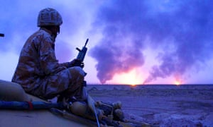 A British soldier in southern Iraq