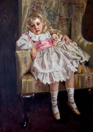 """Agatha Mary Clarissa Miller (1890–1976), later Agatha Christie, aged four, Lost in Reverie, 1894, Douglas John Connah (1871–1941), National Trust, Greenway"""