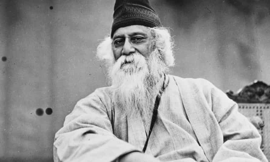 Portrait of Indian author and poet Rabindranath Tagore