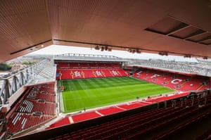 The view from the top tier of the new stand