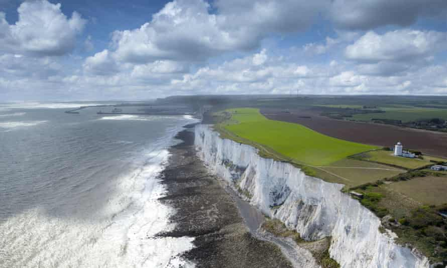 The white cliffs of Dover.