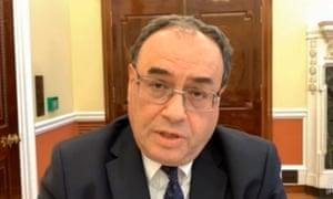 Governor of the Bank of England Andrew Bailey giving evidence to the Treasury Select Committee todya