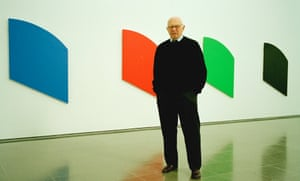 Ellsworth Kelly, artist, at his exhibition at the Serpentine Gallery