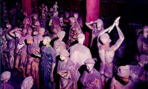 Some of the statues from the Torlonia family's collection.