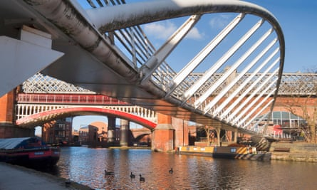 The Bridgewater canal at Castlefield, Manchester.