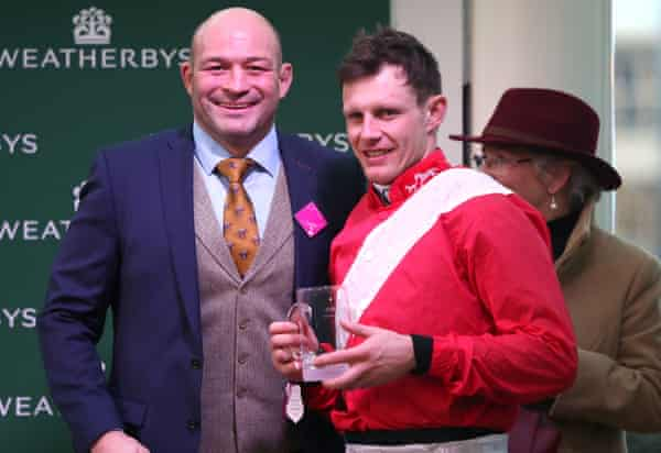 Rory Berst is all smiles with Irishjockey Paul Townend at this month's Cheltenham Festival.