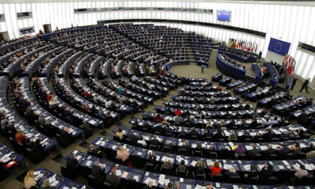 Members of the European Parliament take part in a voting session in Strasbourg, France