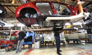 An employee at Nissan's plant in Sunderland