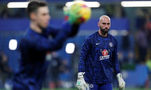 Willy Caballero: all calmed down now.