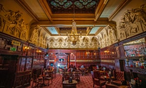 Liverpool, UK The interior of the Philharmonic Dining Rooms pub in Hope Street, ahead of it becoming a Grade I listed building. The pub aimed to reflect the wealth and ambition of the Age of Empire.