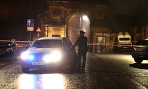 Policeman and car