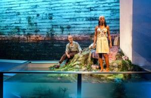 Finbar Lynch (Dr Wangel) and Nikki Amuka-Bird (Ellida) in The Lady from the Sea