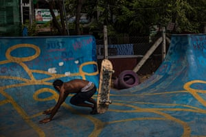 The range of abilities on show is varied. Some people spend hours mastering kickflips and ollies, while others are learning how to remain upright on a moving board.