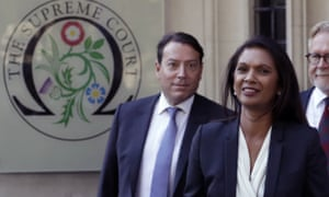 Gina Miller leaving the supreme court