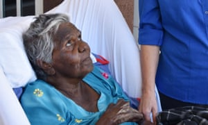 Indigenous elder Mildred Numamurdirdi at the aged care royal commissions hearings in Darwin.
