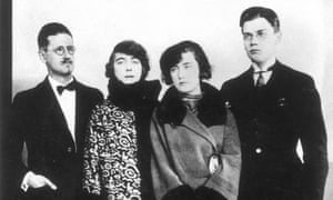 The Joyce family, in Paris 1924: James Joyce, with his wife Nora, and their children, Lucia and George.