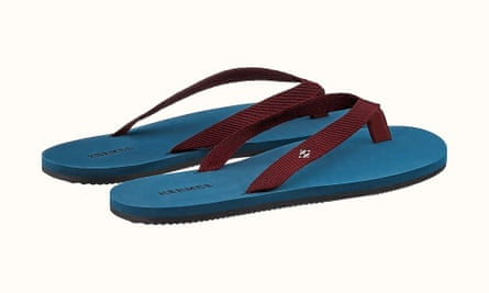 Hermès flip-flops – a steal at £335.