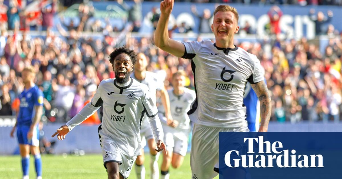 Ben Wilmot's header gives Swansea derby win over bitter rivals Cardiff
