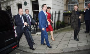 David Cameron and Samantha Cameron arrive at Mark's Club.