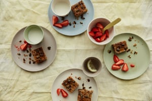 Anna Jones' easy carrot and apple flapjack