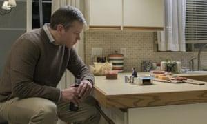 Matt Damon and Jason Sudeikis in Downsizing.
