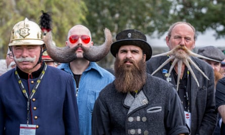 Contestants of the 2015 World Beard And Moustache Championship.