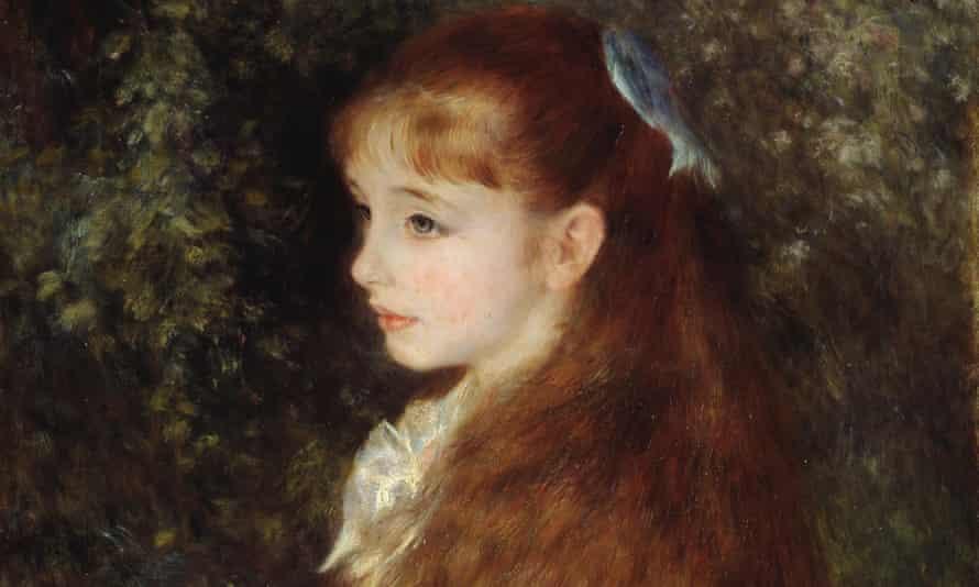 Detail of Renoir's 1880 portrait of Irène Cahen d'Anvers, who would go on to marry Moïse de Camondo.