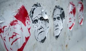 Street art featuring the former special prosecutor Robert Mueller in Washington DC.
