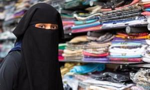 Amina Patel, who works at Hijab Centre, Blackburn.