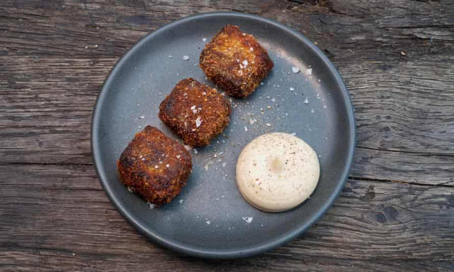 'A thrilling tangle of ripe, smoky fibres': ox cheek and anchovy mayo.