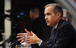 Bank of England Governor Mark Carney at today's press conference
