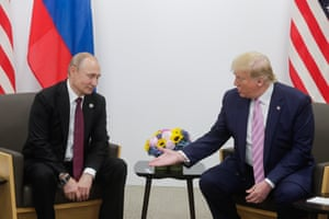 Trump offers his hand to Putin
