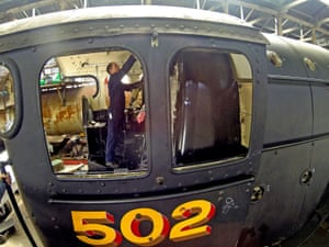 Riley and Son co-director Colin Green takes in restoration work on Flying Scotsman.