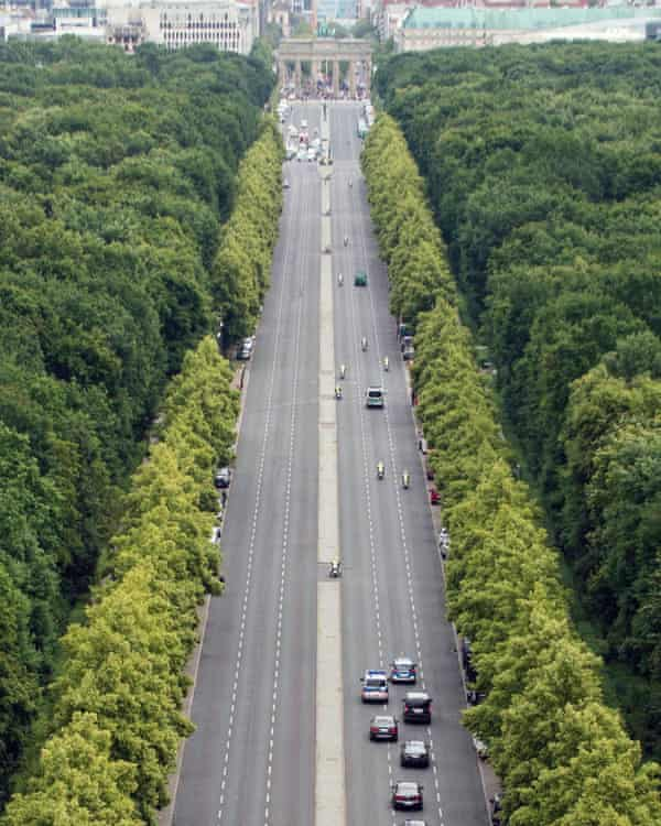 The Strasse des 17. Juni, leading up to the Brandenburg Gate, is one of the few relics of Germania.
