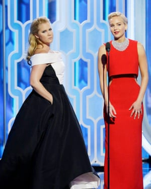 Schumer with recent collaborator Jennifer Lawrence.
