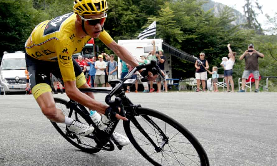Chris Froome during the 2017 Tour de France, when he won his fourth title.